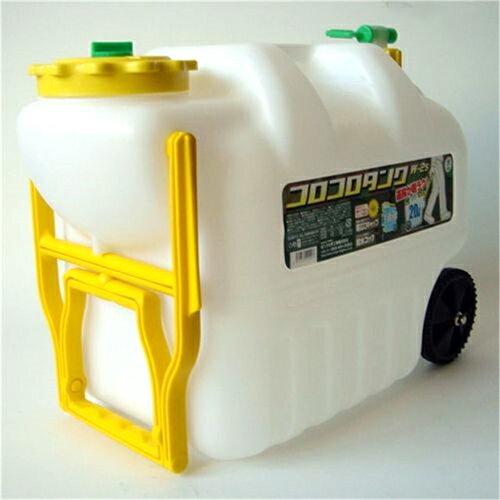 【アウトドア】【ジャグ】 コロコロタンク W-2 コック付 20L(ウォータータンク・タンゲ化学工業)コロ付