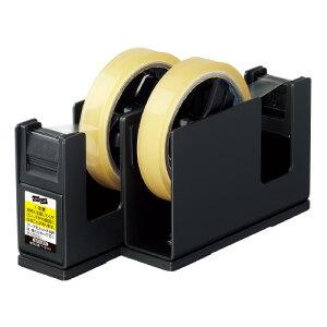 コクヨ(T-SM110D)テープカッター<カルカット> スチール 2連タイプ 黒