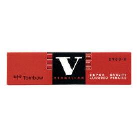 トンボ鉛筆 (8900-V) 赤鉛筆 朱色 1ダース☆