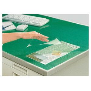 コクヨ (マ-1200NG) デスクマット軟質Wエコノミー 塩ビ製 緑 透明 下敷き付 汎用☆