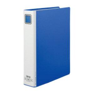 iimo (EM-FURT650BX10) パイプ式ファイル エコノミー両開きA4縦 青 10冊☆