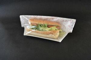 【サンドイッチ テイクアウト】タートルパックJAA27-16 フレッシュ赤(1セット100枚入)【ロールサンド パン詰め合わせ 個包装 袋】