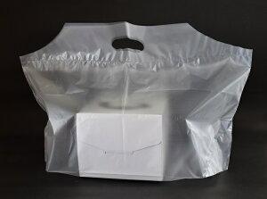 【手提げ袋 持ち帰り袋 手提袋 レジ袋】フラットバッグ L フランス(1セット100枚入)