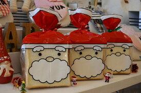 【クリスマス 袋】PP食パン1斤袋 サンタ(1セット100枚入)【パン 袋】【ラッピング 袋】