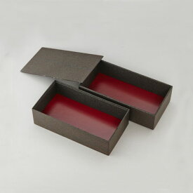 高級弁当 赤久松長折2段重(大) (60個入:ケース) 《メーカー直送》高級折箱 弁当容器 使い捨て 仕出し 懐石 会席 祝膳 法事