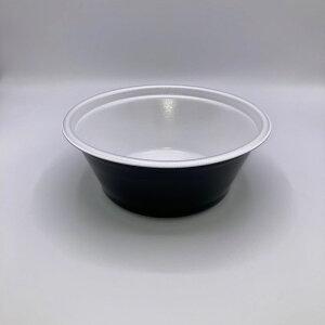 《メーカー直送》テイクアウト DLV麺20(78)本体白黒[ケース400枚入] エフピコ 使い捨て デリバリー どんぶり 丼 プラスチック容器 配達 出前 持ち帰り