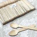 使い捨て 木製スプーン#140 バラ  (100本入/袋)