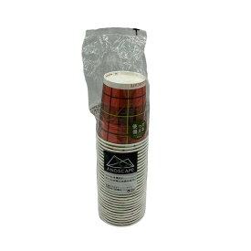 紙コップ アンドスケープペーパーカップ チェック205ml(7オンス)[ケース80袋入(1袋30個入)] サンナップ 使い捨て ドリンクカップ 飲み物 ジュース 目盛付き 計量カップ 防災グッズ フェーズフリー認証品