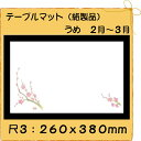 紙製品 テーブルマット 尺3 うめ No.357 (100枚)
