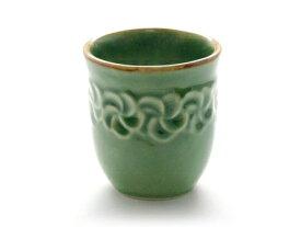 Jenggala ジェンガラ ケラミック HANA YUNOMI (花湯のみ) - Frangipani Green Tea Cup