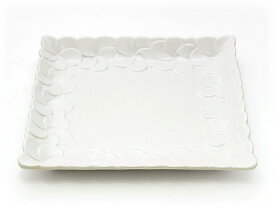 Jenggala ジェンガラ ケラミック Plain Square Frangipani Plate / フラワー・フレーム