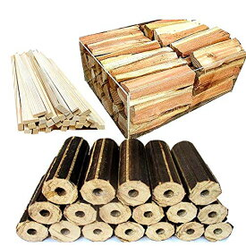No26 長時間燃えるモミガライトと良く燃える針葉樹の薪と焚付をセットにしました 宅配80サイズ×2箱【産地】長野県 八ヶ岳通販