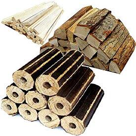 No21 薪 ソロキャンプ 長時間燃えるモミガライトと火持ちの良い広葉樹の薪と焚付をセットにしました 宅配80サイズ【産地】長野県 八ヶ岳通販