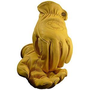 Caiman カイマン レザーグローブ(革手袋) ドライバー/ワーク/バイク Gold Sheep Grain(羊革) (L)