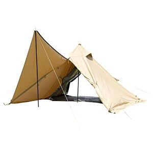 BUNDOK(バンドック) ソロ ティピー 1 TC BDK-75TCSB【1人用】 サンドベージュ色 ワンポール テント 混紡綿 フルクローズ スカート巻き上げ式