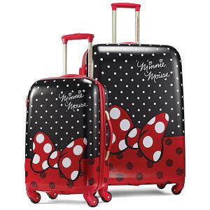【早夏セール割引商品】サムソナイト アメリカンツーリスター ミニーマウス スーツケース 53cm 71cm スピナー 2個セット ディズニー キャリーバッグ