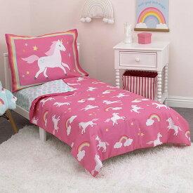 【サマーセール】CrownCrafts Carters ユニコーン 子供 寝具 4点 セット トドラーベッディング