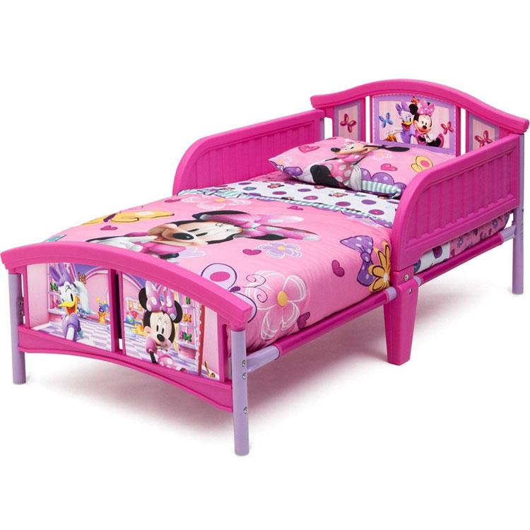 2月1日入荷予約販売/ デルタ ディズニー ミニーマウス トドラーベッド 子供 女の子 3-6歳