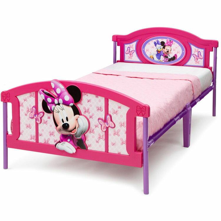 Online ONLY(海外取寄)/ デルタ ディズニー ミニーマウス 3D ツインベッド 3歳から /配送区分A