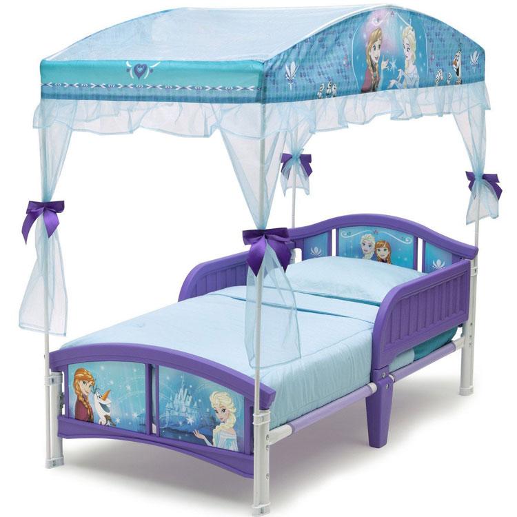 Online ONLY(海外取寄)/ デルタ ディズニー アナと雪の女王 キャノピー付き 子供用 ベッド 女の子 2歳から