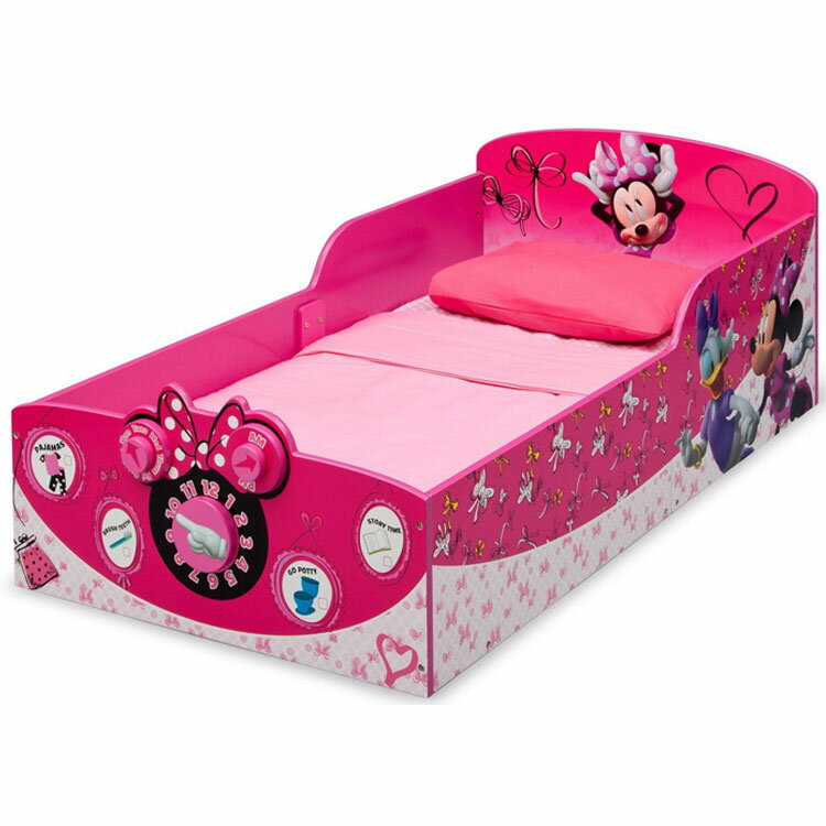 Online ONLY(海外取寄)/ デルタ ディズニー ミニーマウス ウッデン 子供用 ベッド 女の子 1歳半から