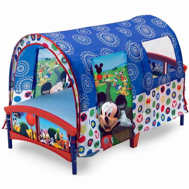 【ママ割エントリーでP5】 デルタ ディズニー ミッキーマウス テント付き 子供用ベッド 2歳から