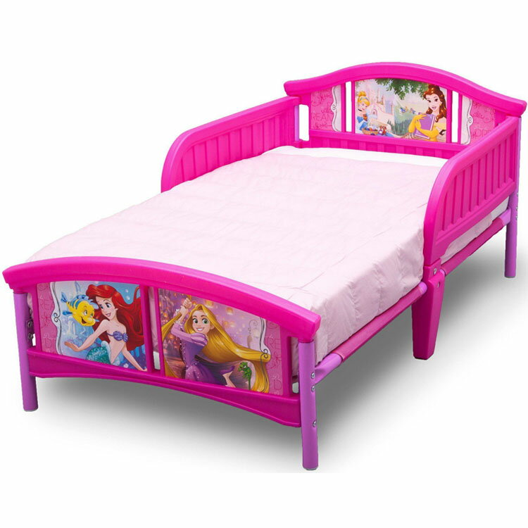 Online ONLY(海外取寄)/ デルタ ディズニー プリンセス 子供用ベッド 女の子 3-6歳 トドラーサイズ