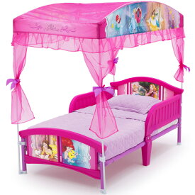 【20日限定クーポン有】子ども用ベッド デルタ ディズニー プリンセス キャノピー付き 子供 ベッド 女の子 2歳から 幼児
