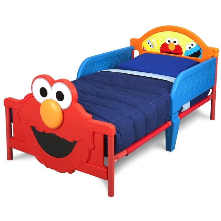 デルタ セサミストリート エルモ 3D 子供用ベッド 2歳から