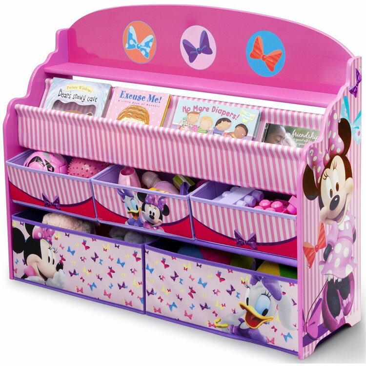 デルタ ディズニー ミニーマウス デラックス 本棚 おもちゃ箱 女の子 3-6歳
