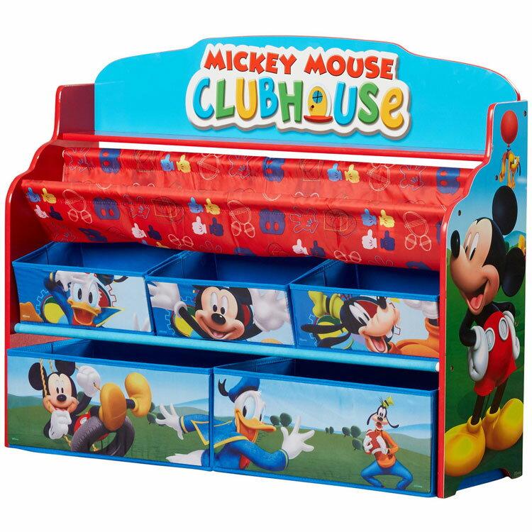 デルタ ディズニー ミッキーマウス デラックス 本棚 おもちゃ箱 3-6歳