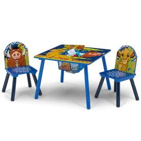 【P2倍・7月4日20時〜+クーポン有】デルタ ディズニー ライオンキング テーブル&チェア 収納付き 子供家具 学習机 椅子 3点セット Delta