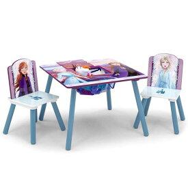 デルタ ディズニー アナと雪の女王2 テーブル&チェア 収納付き 子供家具 学習机 椅子 3点セット Delta