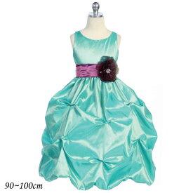 【サマーセール】子供ドレス フォーマル 女の子 90-100cm ジェード ラフレシア