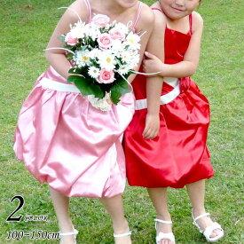 【Fashion THE SALE】子供ドレス フォーマル 女の子 100-150cm ピンク レッド キャリー