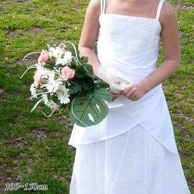 【Fashion THE SALE】子供ドレス 100-140cm ホワイト ピンク クロエ フォーマル ウェア