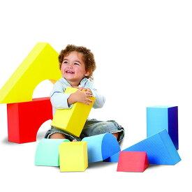エドシェイプ 大型 ブロック 16個セット おもちゃ ジャイアント ソフト カラー ブロック EduShape 706145