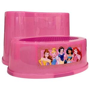 【P5倍・8月4日20時〜+クーポン有】子供 2段 ステップ ディズニー プリンセス ピンク 滑り止め付き 女の子 踏み台 キャラクター ステップスツール