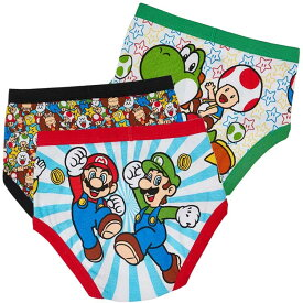 【感謝祭ポイント5倍】 ブリーフ 子供 スーパーマリオ ブラザーズ 3枚組 男児 キッズ 下着 子ども用 パンツ 110cm 120cm