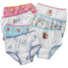 送料無料/ ショーツ 女の子 90-105cm ディズニー アナと雪の女王 キッズ キャラクター パンツ 7枚組 下着