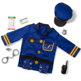 【P2倍・12月14日10時から】ハロウィン 衣装 子供 警察官 ポリス コスチューム 男の子 3歳 4歳 5歳 6歳 小物付き メリッサ&ダグ