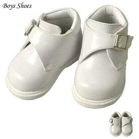 フォーマル 靴 モンクストラップ キッズ 男の子 ホワイト 10.5cm シューズ