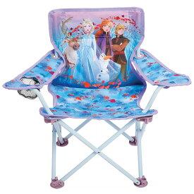 11月上旬入荷予約販売/ 子ども アウトドアチェア ディズニー アナと雪の女王2 折りたたみ ドリンクホルダー付き 1人用 椅子 キッズ チェアー 背もたれ FROZEN2
