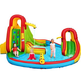 大型プール 滑り台 ウォータースライド バウンスパーク エアー遊具 家庭 施設 プール 水遊び /配送区分A