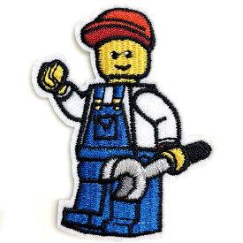 【P2倍・〜9月27日10時〜+クーポン有】送料無料/ ワッペン レゴ ボーイ 刺繍 アイロン キャラクター LEGO ワッペン アップリケ