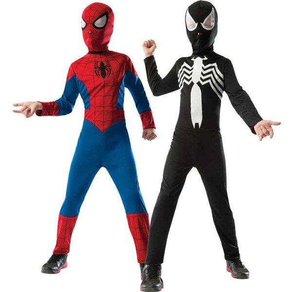 ルービーズ スパイダーマン コスチューム リバーシブル 男の子 105-150cm 880602 ハロウィン 衣装 子供
