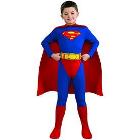 【スーパーセール半額商品】ルービーズ スーパーマン ハロウィン コスチューム 男の子 90-160cm 衣装 子供 Rubies 882085