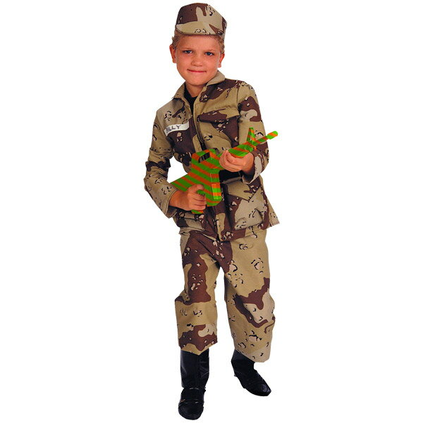 ハロウィン 衣装 子供 ルービーズ ミリタリー 軍隊 制服 コスチューム 男の子 女の子 105-150cm 882103
