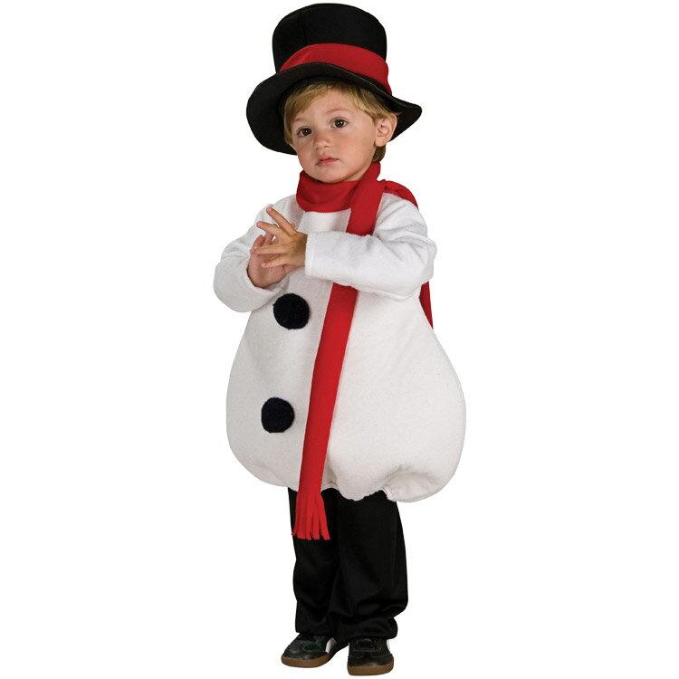 コスチューム 子供 90-120cm クリスマス スノーマン