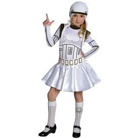 ハロウィン 衣装 子供 ルービーズ スターウォーズ ストームトルーパー コスチューム 女の子 120-150cm Rubie's 886844